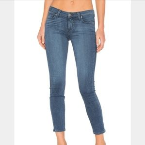 Paige Verdugo Crop Mid Rise Skinny Denim Jeans